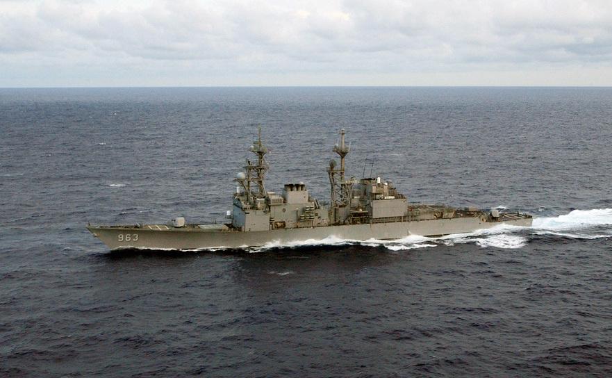 Distrugătorul american cu rachete ghidate USS Spruance