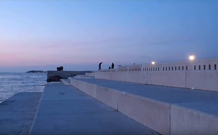 Treptele orgii marine din Zadar, Croatia.