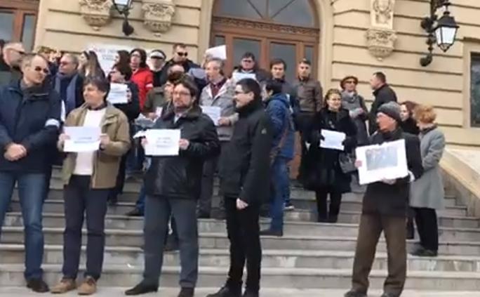 Protest Universitatea A. I. Cuza