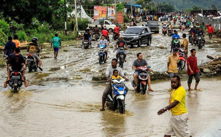 Inundaţii în Sentani, provincia indoneziană Papua, 16 martie 2019