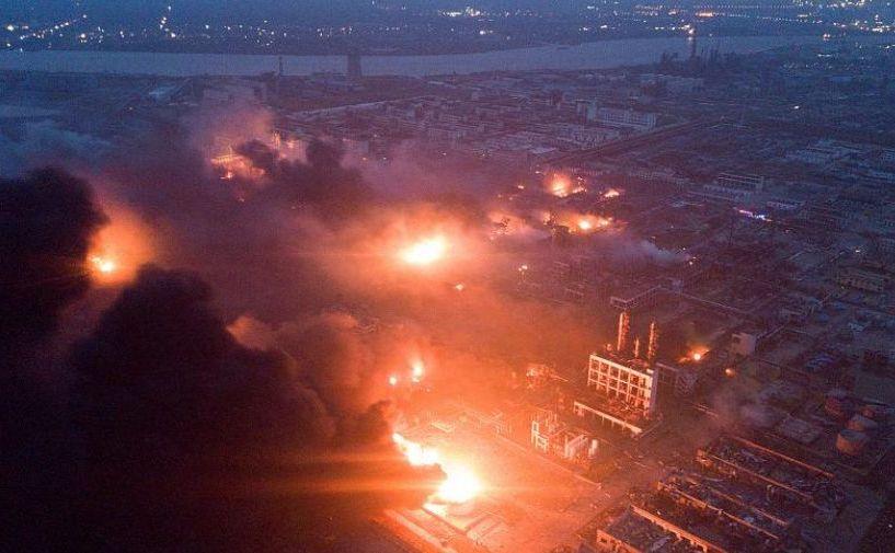 Explozie la o centrală chimică din oraşul Yancheng, provincia chineză estică Jiangsu, 21 martie 2019