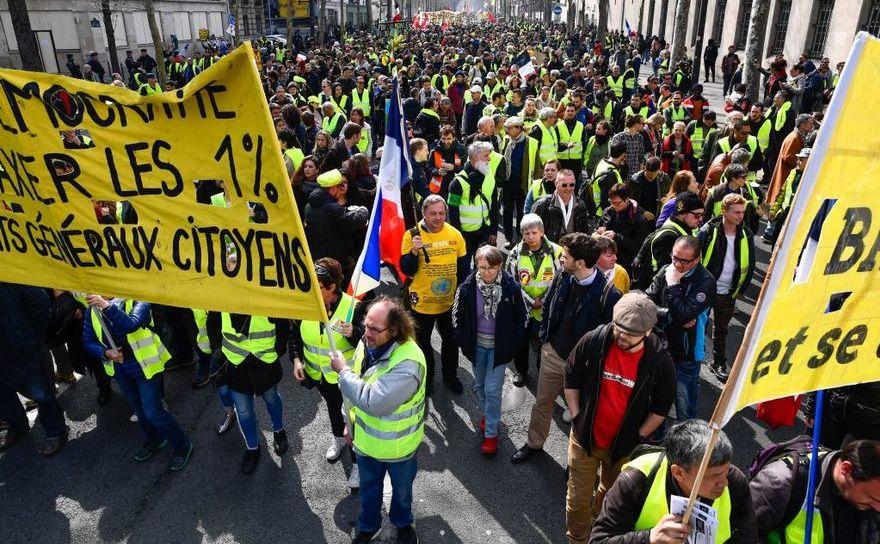 Protest al vestelor galbene în Paris, 23 martie 2019