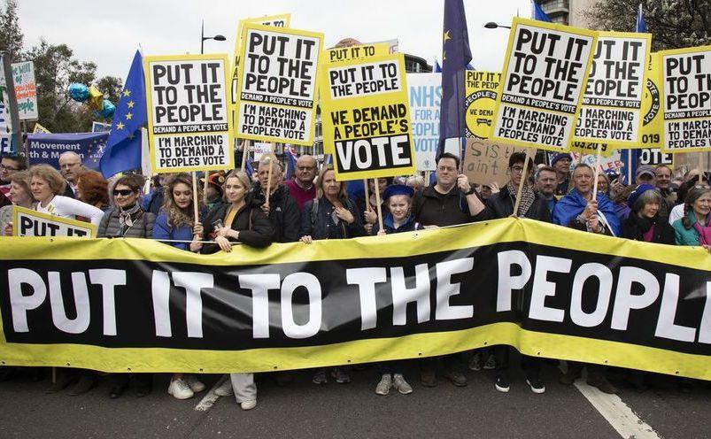 Un milion de britanici mărşăluiesc în Londra pentru un nou referendum pentru Brexit, 23 martie 2019
