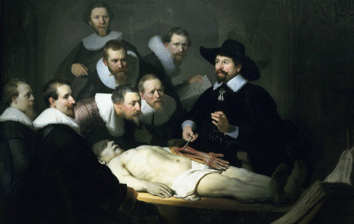 """""""Lecţia de anatomie a dr. Tulp"""", Rembrandt"""