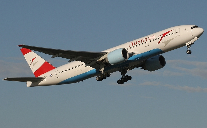 Avion al companiei aeriene Austrian Airlines