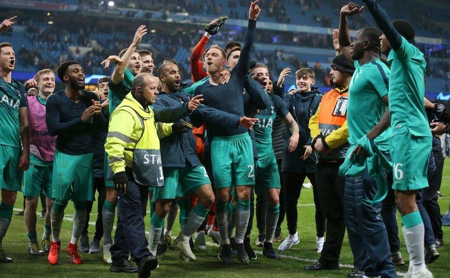 Manchester  City şi Tottenham Hotspur, scor final 4-3 (3-2), în manşa a doua a sferturilor de finală a UCL.