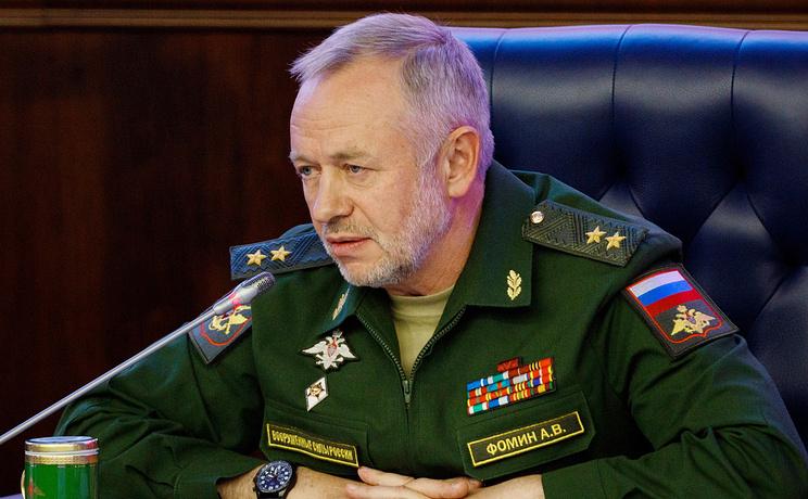 General colonelul Alexander Fomin, adjunct al ministrului rus al Apărării