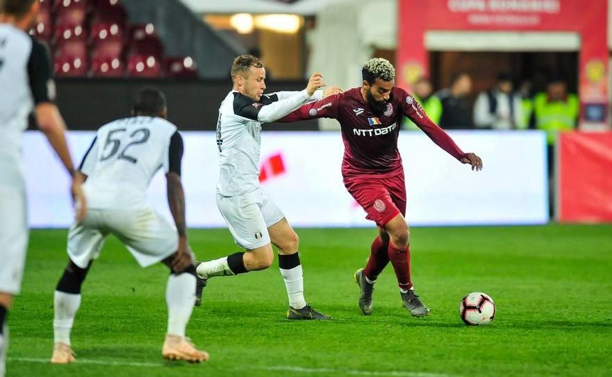 Astra Giurgiu şi CFR Cluj 2-2 (2-1) în manşa a doua a semifinalelor Cupei României.