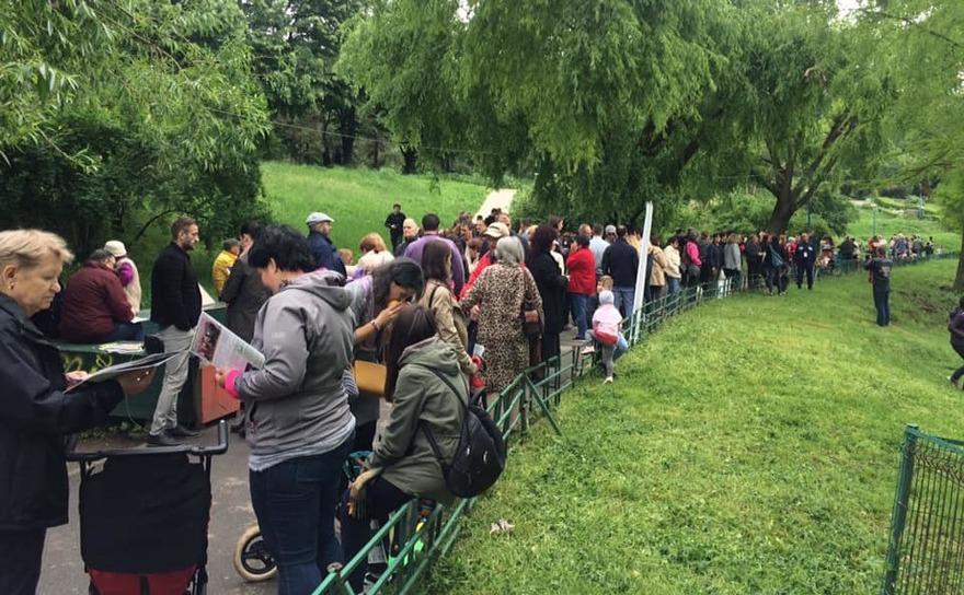 Protest în Parcul Circului