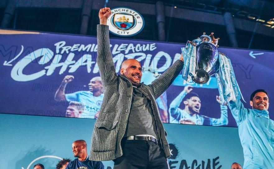 Antrenorul lui Manchester City, spaniolul Pep Guardiola.