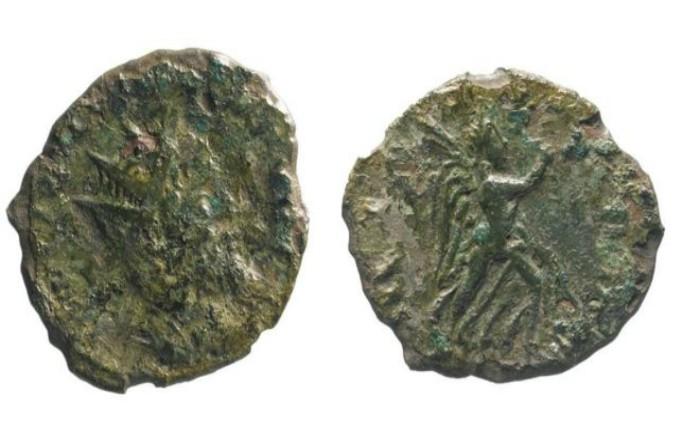 Două monede bătute în timpul domniei lui                   Ulpio Cornelio Leliano o Lolliano