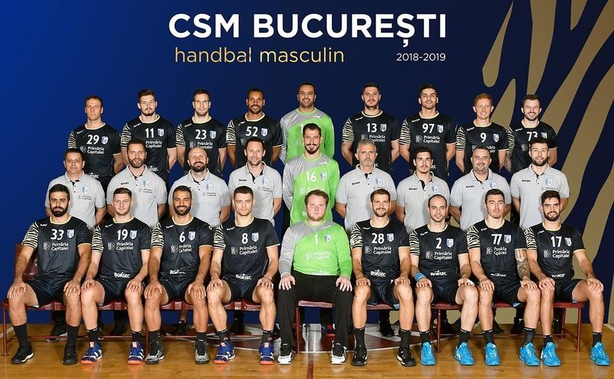 Echipa de handbal masculin CSM Bucureşti.