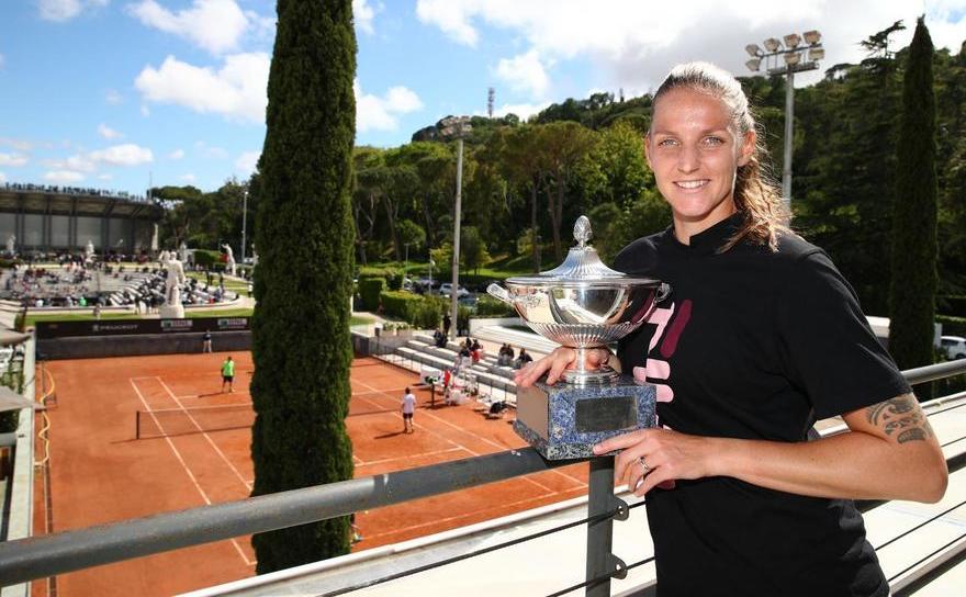 Jucătoarea cehă de tenis Karolina Pliskova - campioană la WTA Roma.