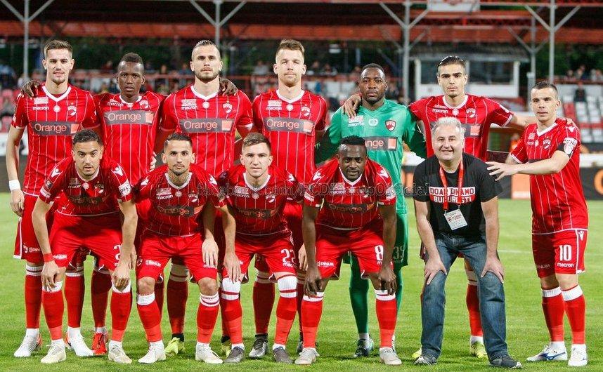 Echipa de fotbal Dinamo Bucureşti.