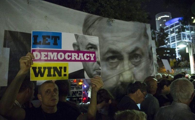 Protest împotriva lui Benjamin Netanyahu în Tel Aviv, Israel, 25 mai 2019