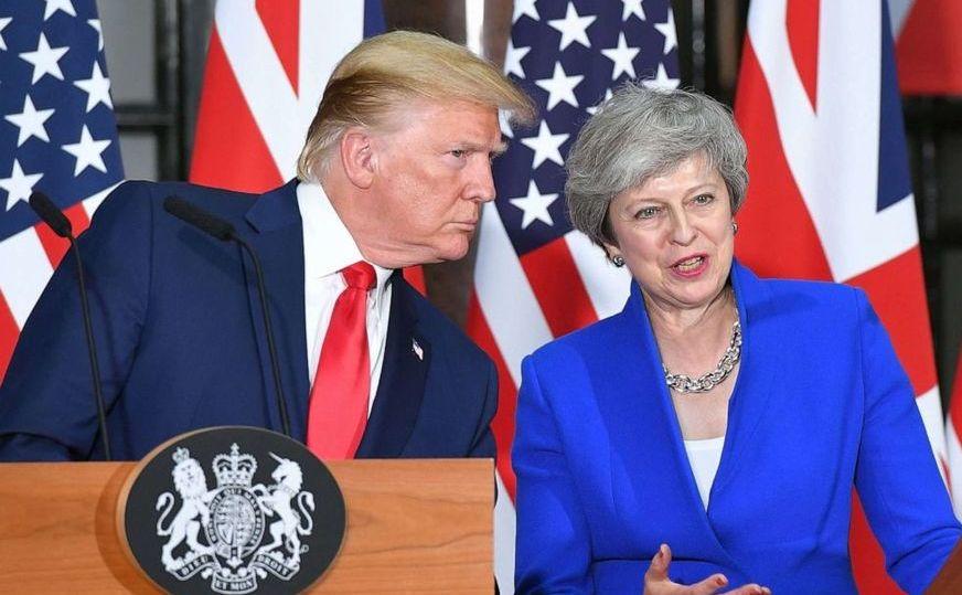 Preşedintele american Trump şi premierul britanic May la o conferinţă comună de presă în Londra, 4 iunie 2019