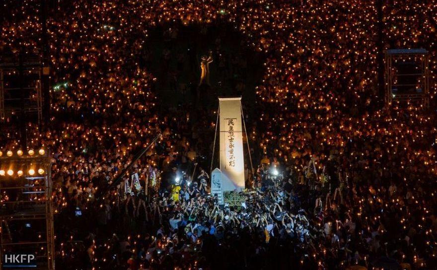 Comemorarea masacrului din Tiananmen, Hong Kong, 4 iunie 2019