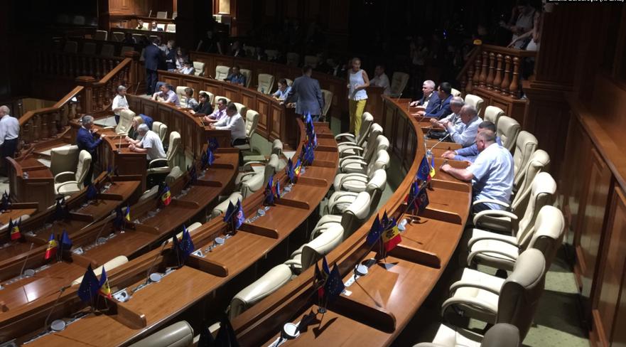 PSRM şi Blocul ACUM, în timpul negocierilor pentru crearea unei majorităţi parlamentare