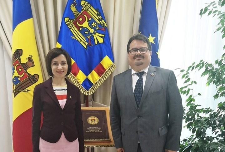 Maia Sandu la întâlnire cu PeterMichalko, ambasadorul UE la Chişinău