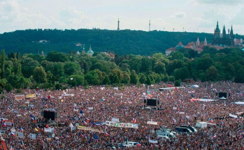 Protest anti-guvern în Praga, Republica Cehă, 23 iunie 2019