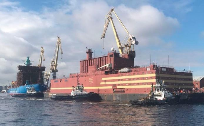 Centrala nucleară plutitoare rusească Akademik Lomonosov