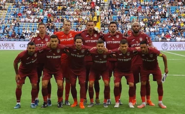 Formaţia de fotbal CFR Cluj.