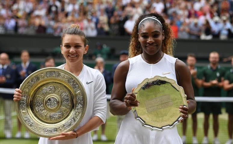Finalistele turneului de la Wimbledon 2019 - Simona Halep şi Serena Williams.