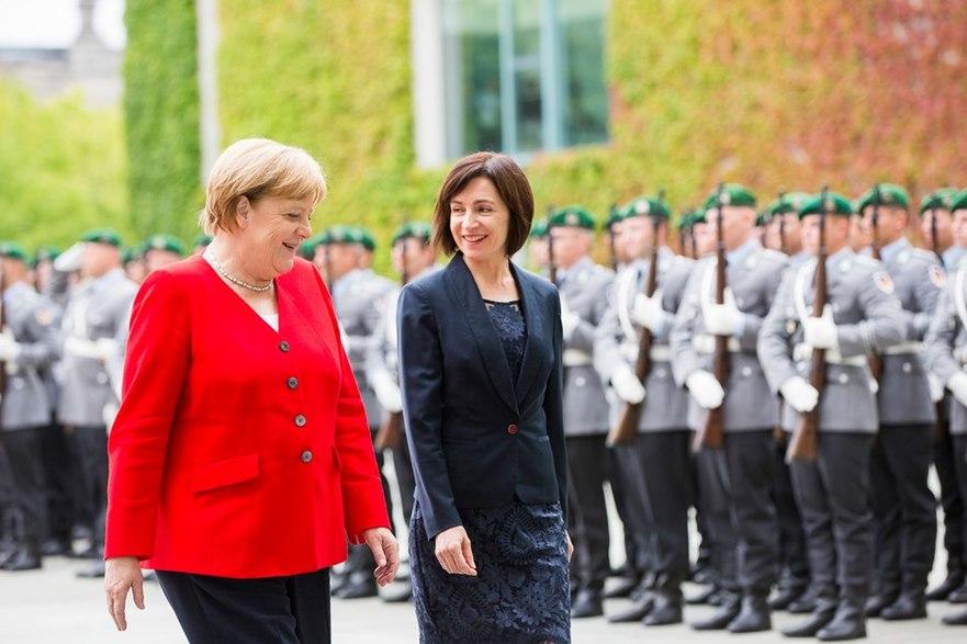 Maia Sandu la întâlnire cu Angela Merkel, 16.07.2019