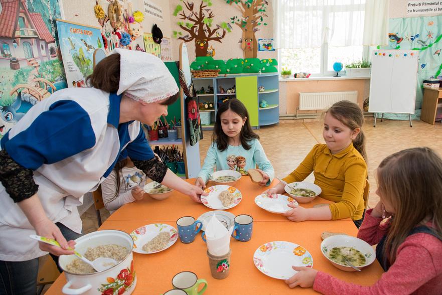 Alimentaţia copiilor în instituţiile de învăţământ a R. Moldova