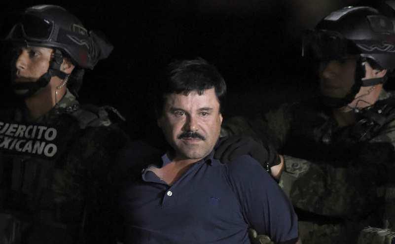"""Traficantul mexican al drogurilor Joaquin """"El Chapo"""" Guzman"""