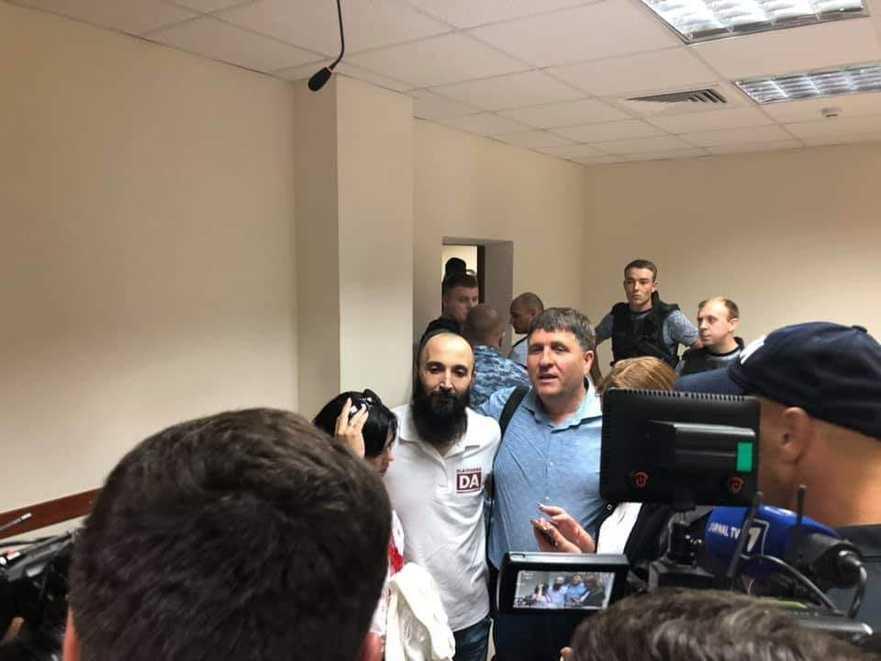Gheoeghe Petic în momentul eliberării