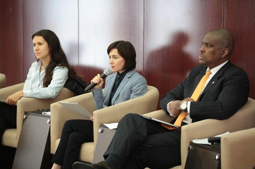 """Maia Sandu la Forumul """"Reformarea justiţiei şi combaterea corupţiei"""""""