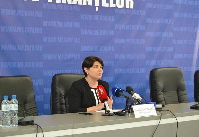 Natalia Gavriliţa, ministrul Finanţelor de la Chişinău