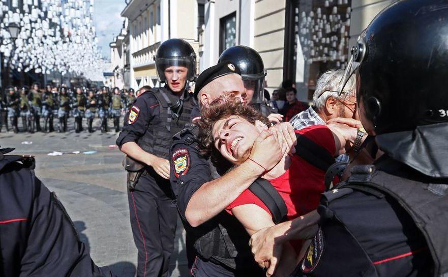 Arestări violente în Moscova, 27 iulie 2019
