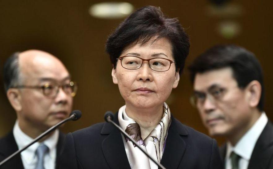 Liderul guvernului din Hong Kong, Carrie Lam, la o conferinţă de presă din 5 august 2019
