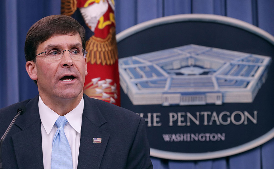 Secretarul american al apărării Mark Esper