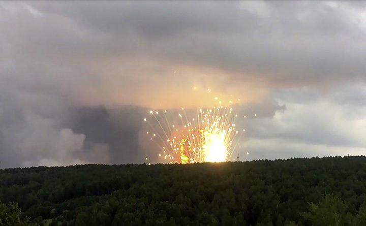 Explozie la un depozit militar situat în apropierea oraşului Acinsk, regiunea Krasnoiarsk, Rusia, 5 august 2019