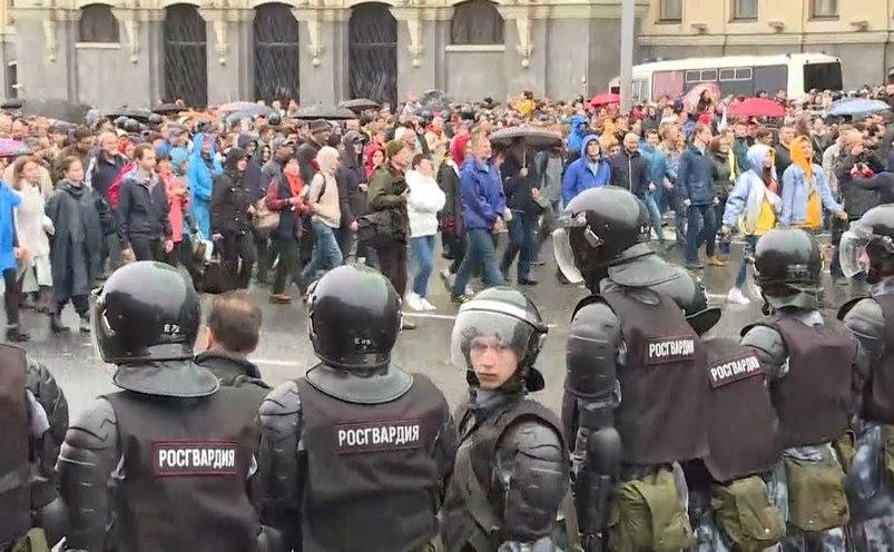Proteste masive la Moscova, 10 august 2019