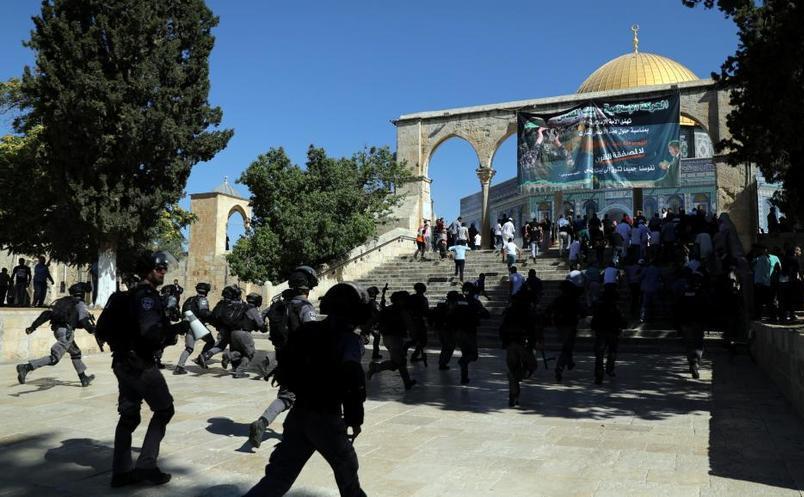 Ciocniri ȋntre poliţia israeliană şi palestinieni ȋn complexul Nobilul Sanctuar ȋn Ierusalim, 11 august 2019
