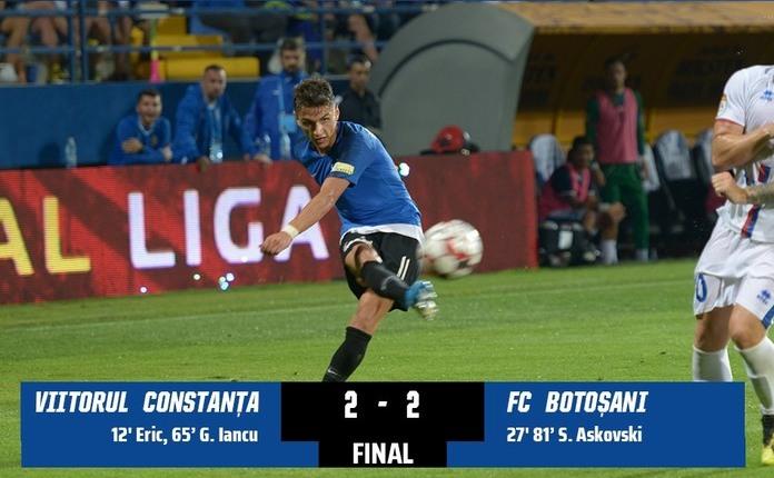 FC Viitorul - FC Botoşani 2-2, meci din etapa a cincea a Ligii I de  fotbal.