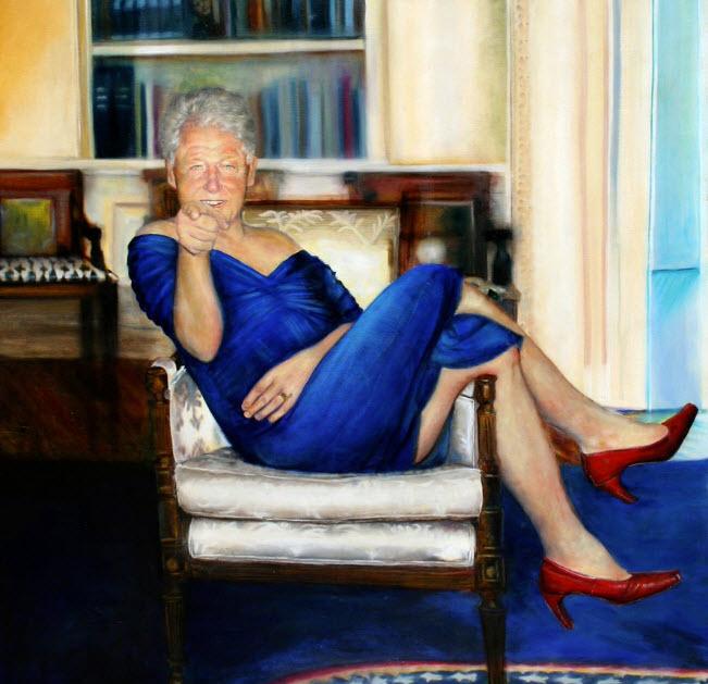 Portret ciudat al lui Bill Clinton care s-ar fi găsit în casa pedofiului Jeffrey Epstein