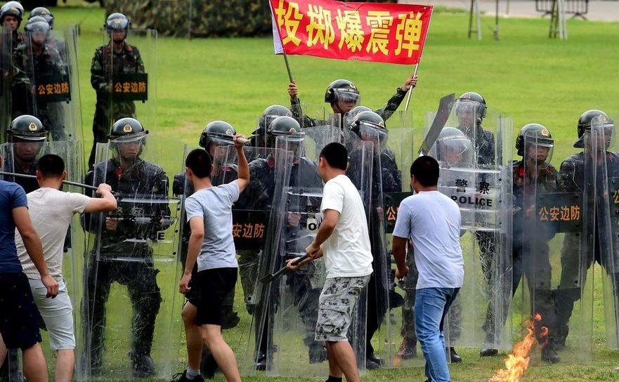 Trupe speciale ale Beijingului la antrenament