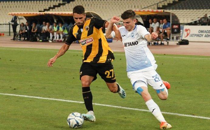 Universitatea Craiova - AEK Atena 1-1 în manşa secundă a  turului trei preliminar al Europa League la fotbal.