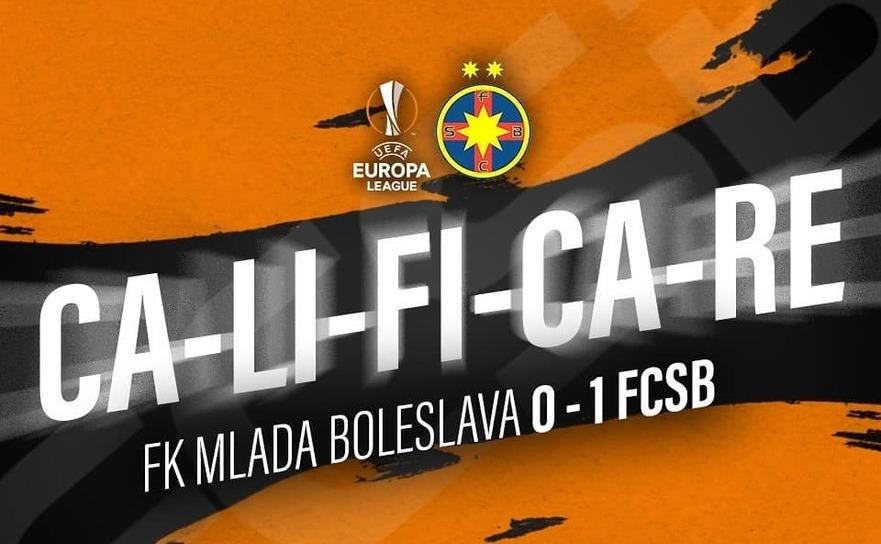 FCSB s-a calificat în play-off-ul Europa League, după 1-0 cu FK Mlada Boleslav.