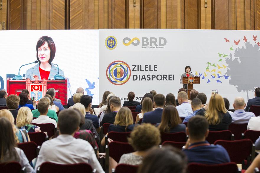 Maia Sandu, în cadrul Zilelor Diasporei la Chişinău, 2019