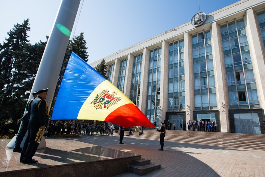 Coborârea în bernă a steagului R. Moldova comemorând victimele totalitarismului, 23.08.2019