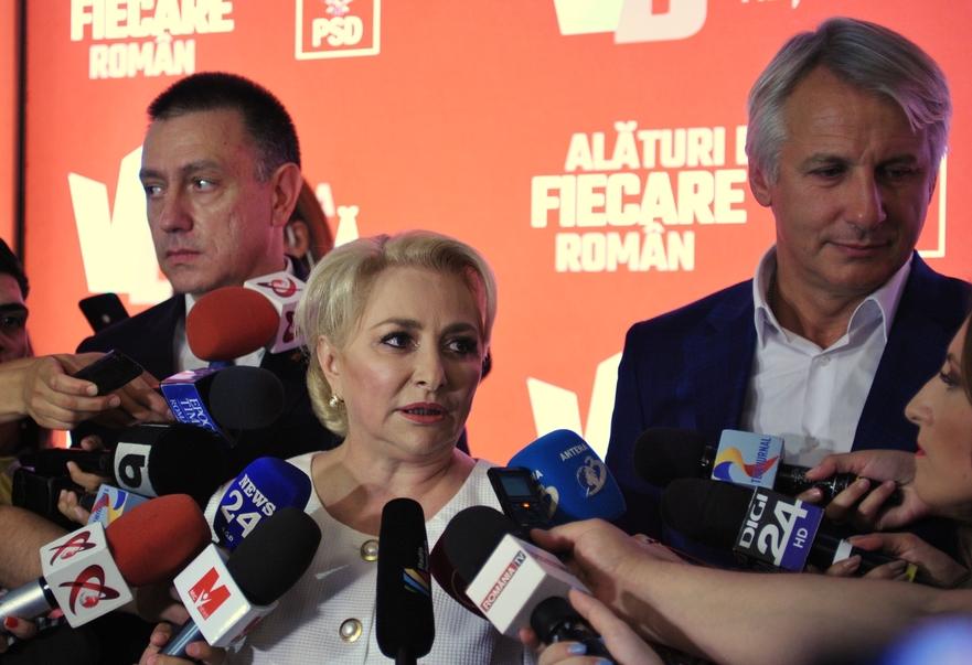 Mihai Fifor, Viorica Dancila si Eugen Teodorovici