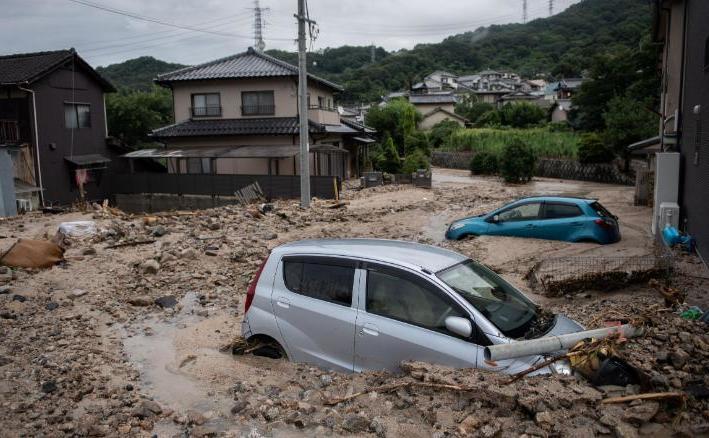Inundaţii în Japonia