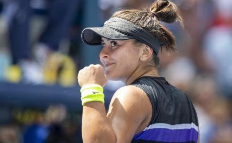 Jucătoarea de tenis canadiană de origine română Bianca Andreescu.