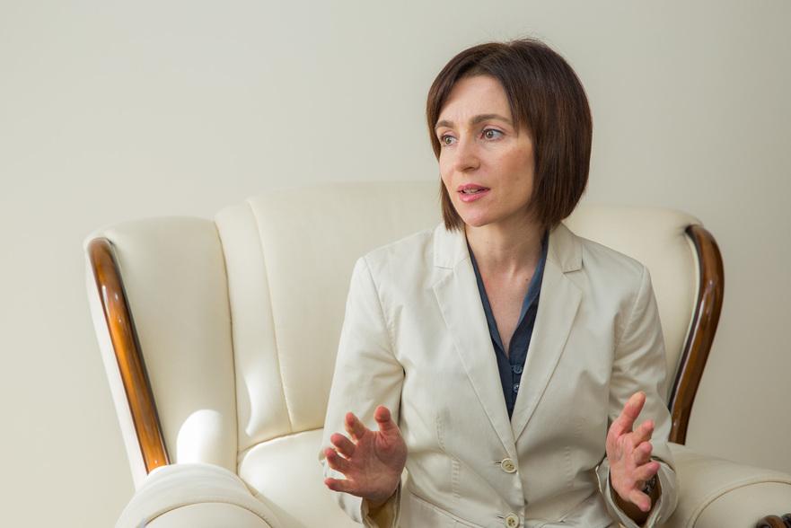 Maia Sandu, prim-ministrul Republicii Moldova